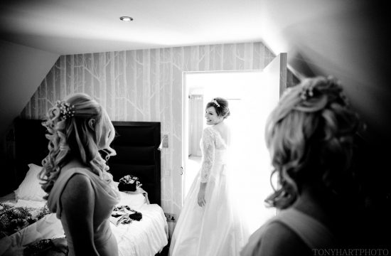 Great Fosters Wedding Photography - Sophie in her Dress, by Tony Hart