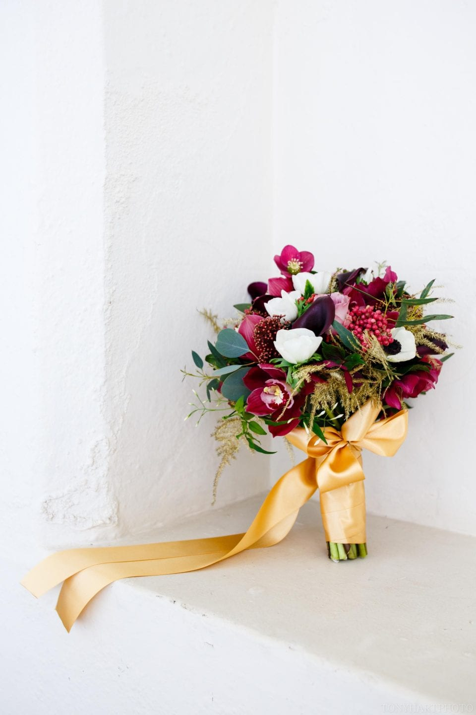 Jenn's beautiful wedding bouquet by the talented florists at Moutan