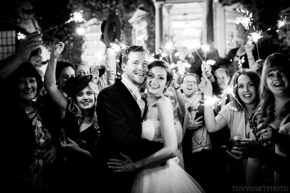 Penny & James had the most incredible sparkler exit at the end of their wedding at Hampton Court House
