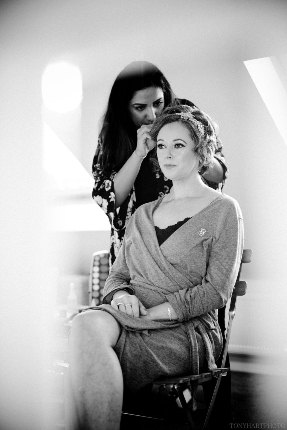 Emma in the Makeup Chair