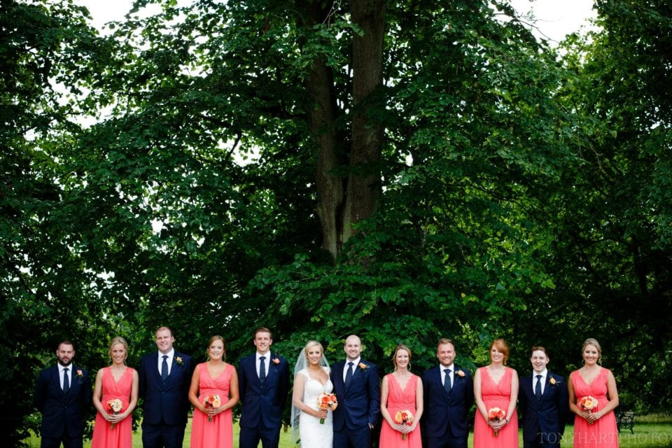 The wedding party at Silchester House