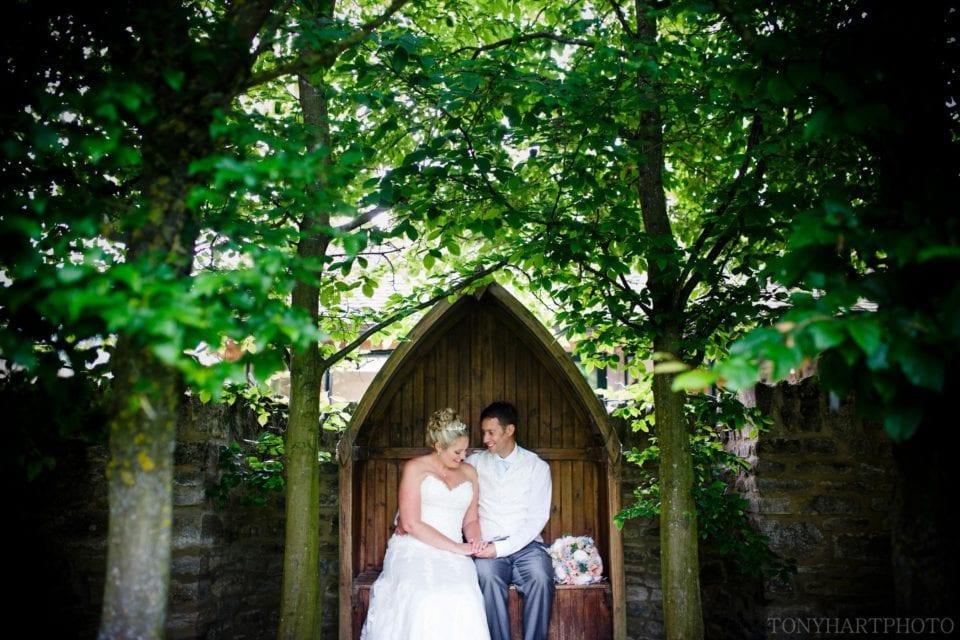 Kath & Matt having a quiet moment at The Tythe Barn Launton