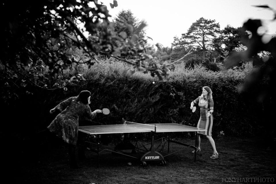Wedding table tennis. There's always time for Ping Pong