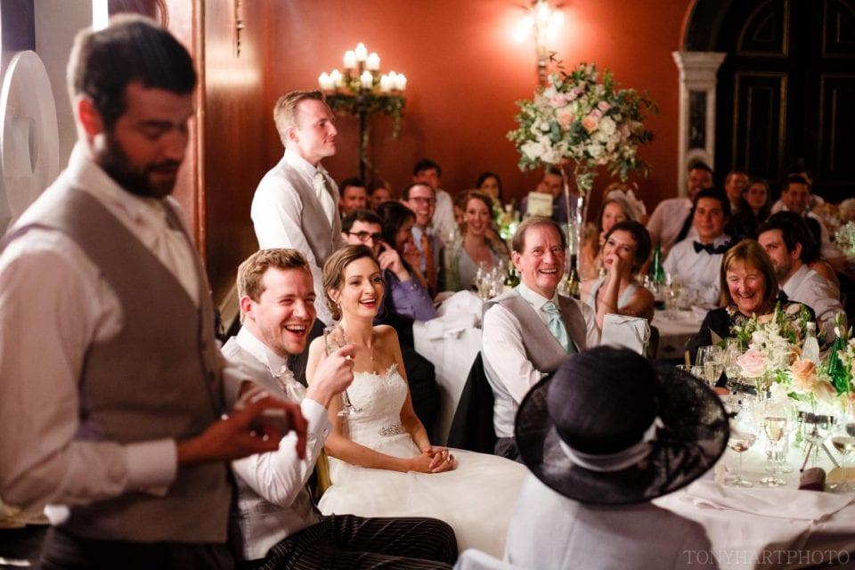 Wedding speeches at Hampton Court House
