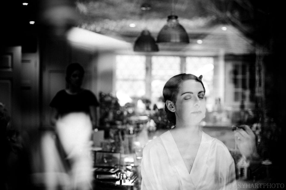 Bride awaits makeup