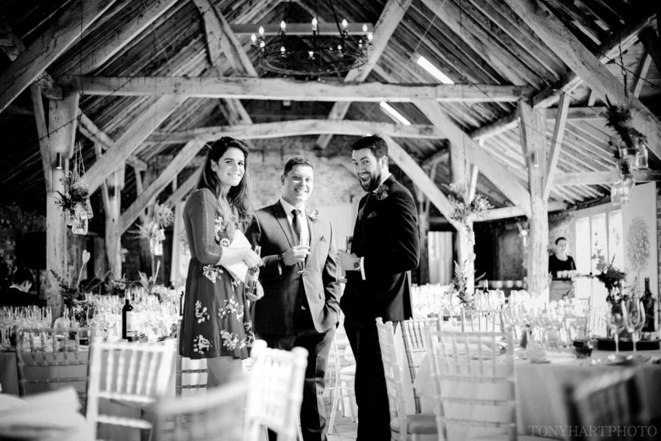 Long Barn Wedding guests