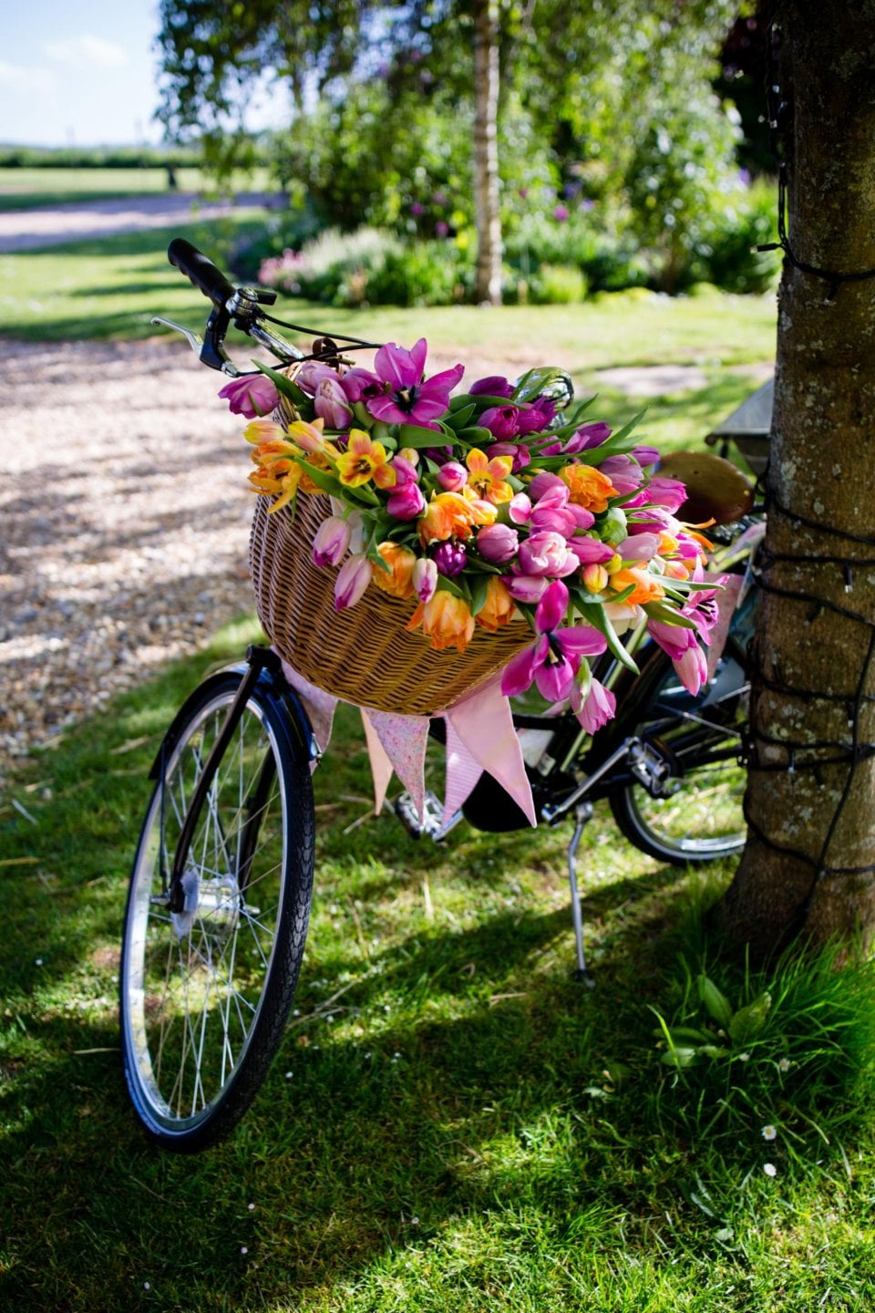 Long Ban bicycle wedding flowers