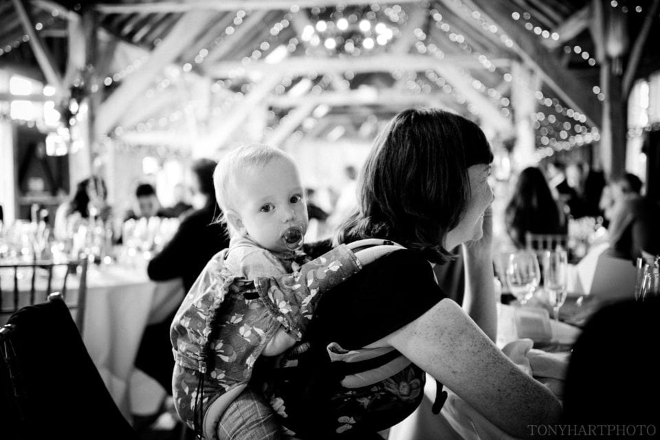 Baby at Wedding Reception