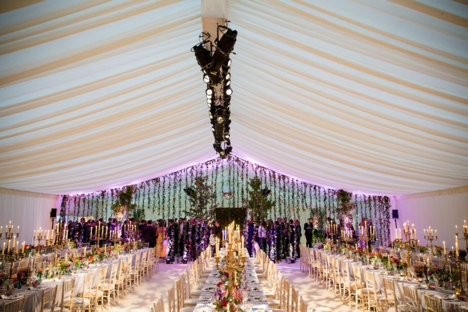 Fenella & Jamie's astonishing Henley wedding tent