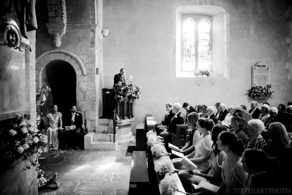 Wedding ceremony at Shipley Church