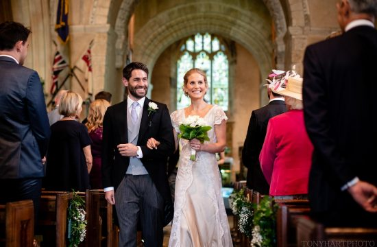 Just married at Shipley Church
