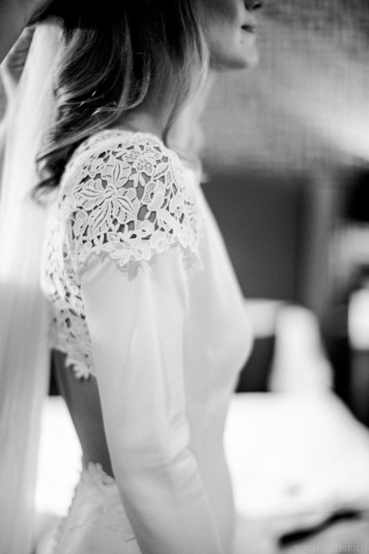 Detail of Anna's Rime Arodaky wedding dress
