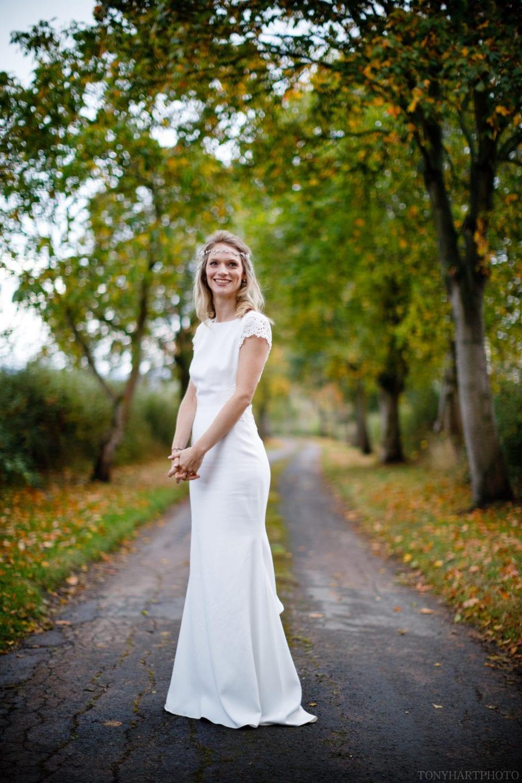 Bride Anna wearing her Rime Arodaky dress