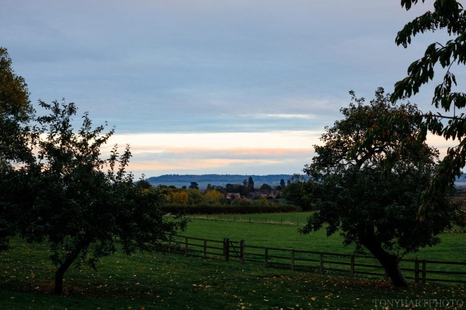 The view from Longbourn Barn