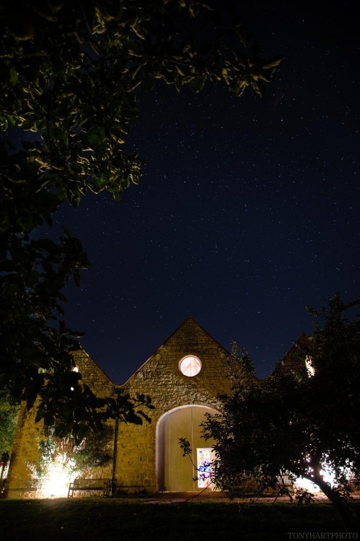 Longbourn wedding venue under a sea of stars