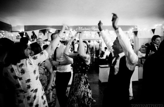 Wedding dancefloor at the Bluebell Dockenfield