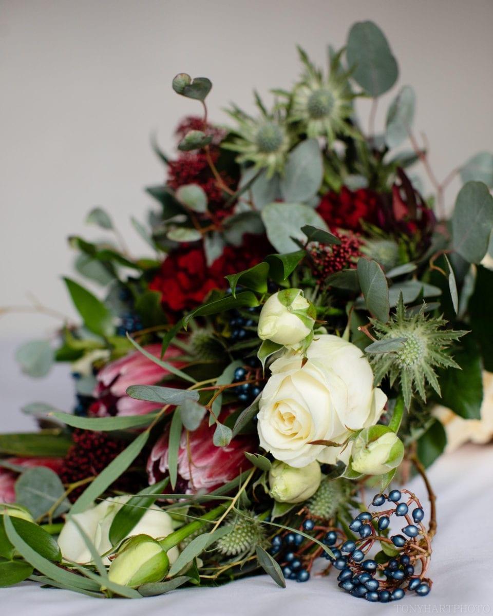 Bridal bouquet by Claire's Floristry