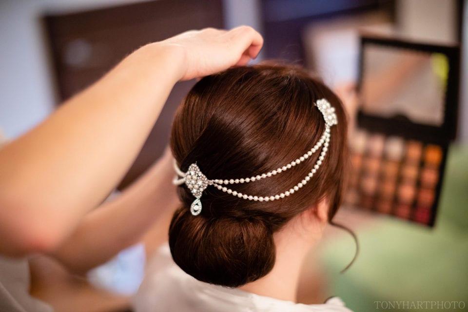 Northbrook Park Wedding Photography - Amazing bridal hairpiece