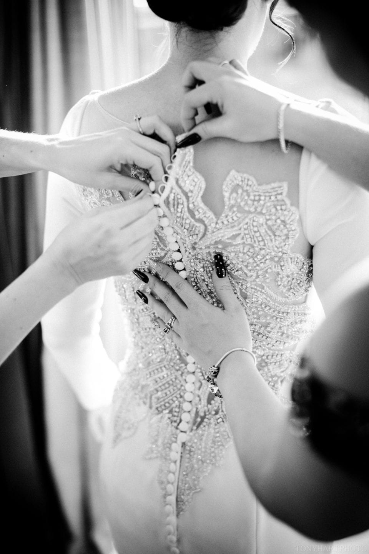 The stunning back of Jemima's Justin Alexander dress