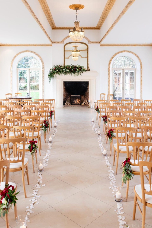 Northbrook Park Wedding Photography - The Vine Room set for a December wedding