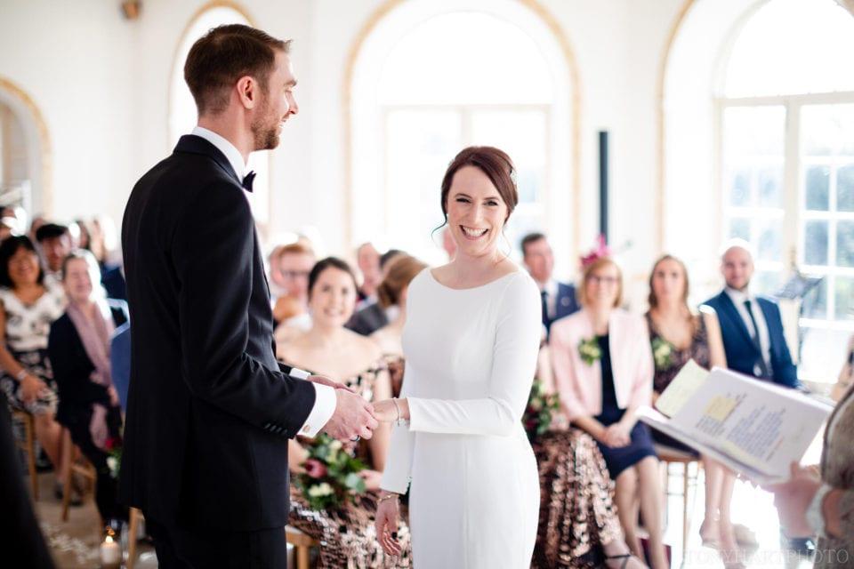 Northbrook Park Wedding Photography - Big smile from Jemima