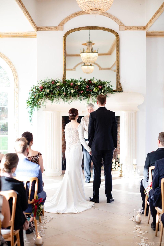 Farnham Wedding Photographer Tony Hart - James & Jemima during their wedding ceremony in The Vine Room