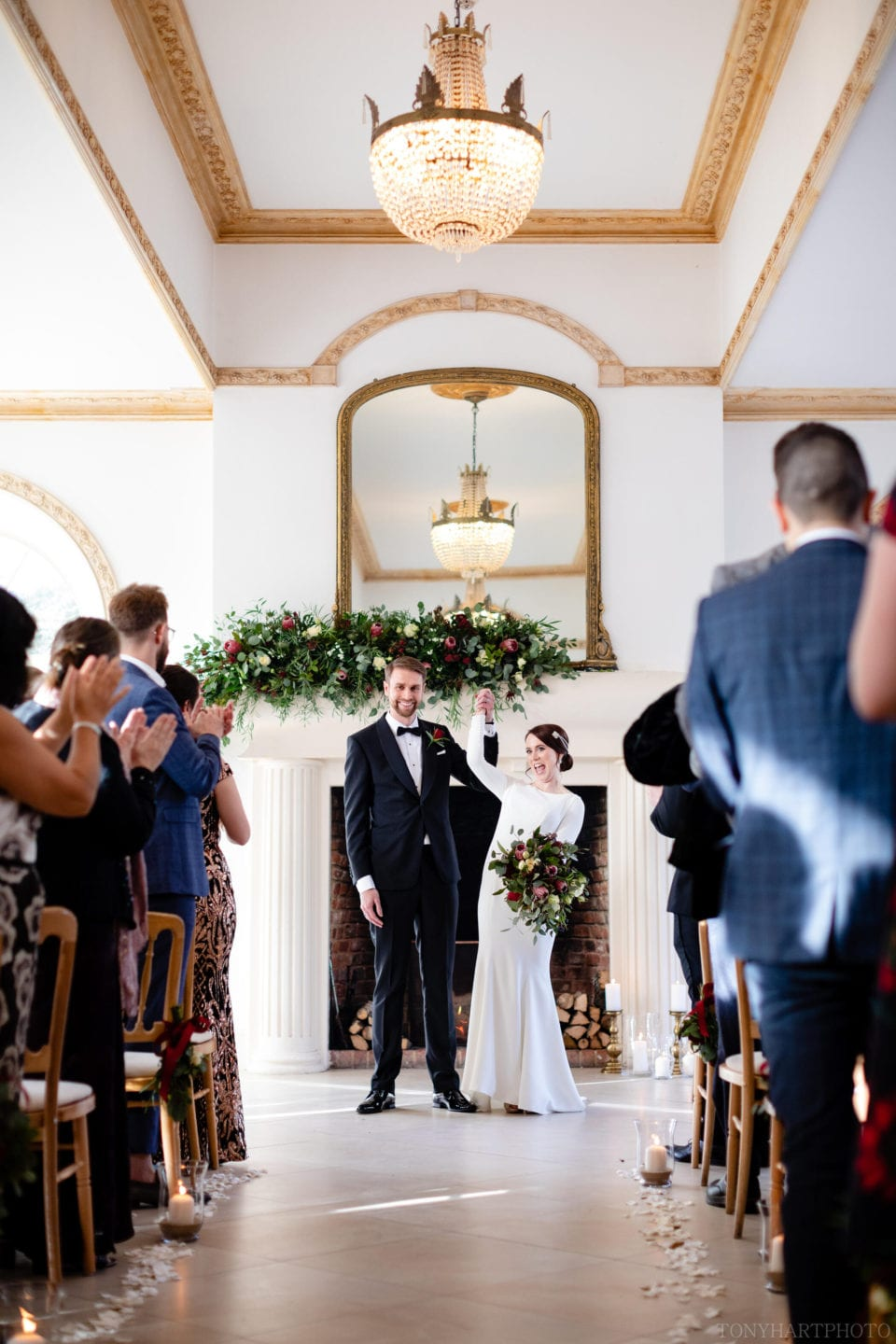 Northbrook Park Wedding Photography - James & Jemima celebrate their marriage in The Vine Room