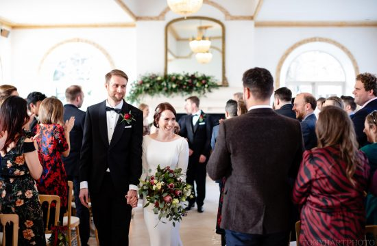 Northbrook Park Wedding Photography - The exit of the Bride & Groom