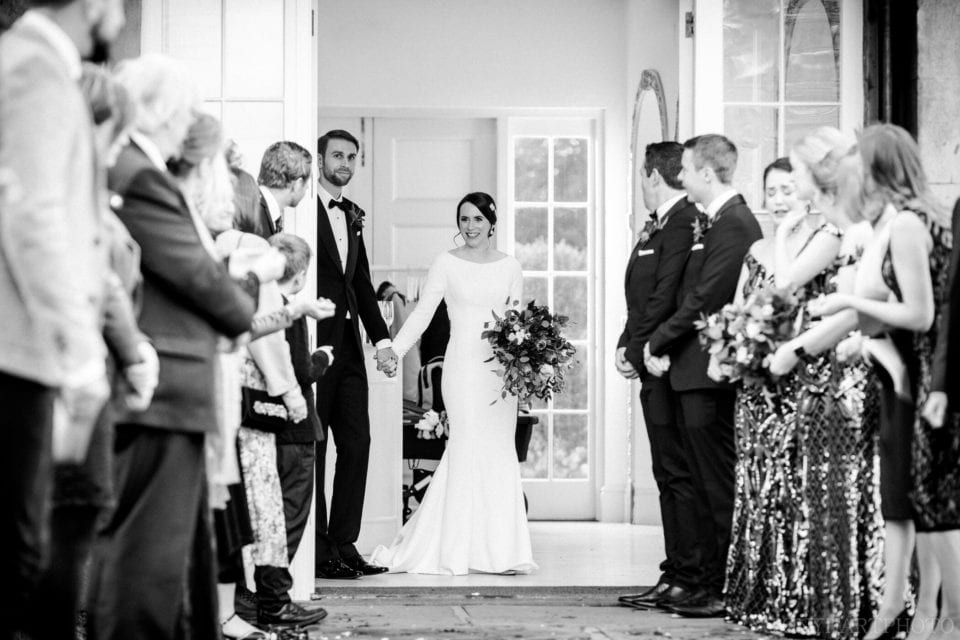 Northbrook Park Wedding Photography - Confetti in black and white