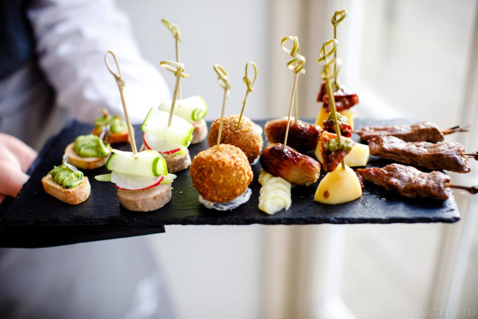 Canapes by White Truffle at Northbrook Park