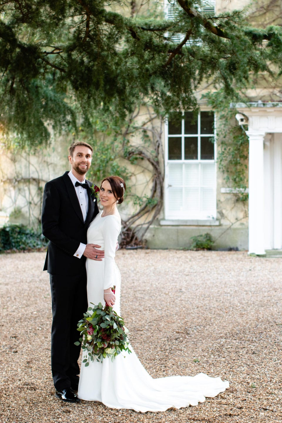 Northbrook Park Wedding Photography - Portrait of the Bride and Groom by Tony Hart