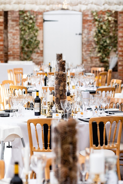 Northbrook Park Wedding Photography - Wedding breakfast decor