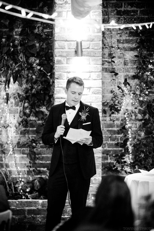 Best Man's speech in The Orangery