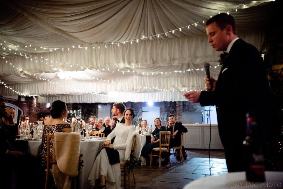 Wedding speeches in The Orangery