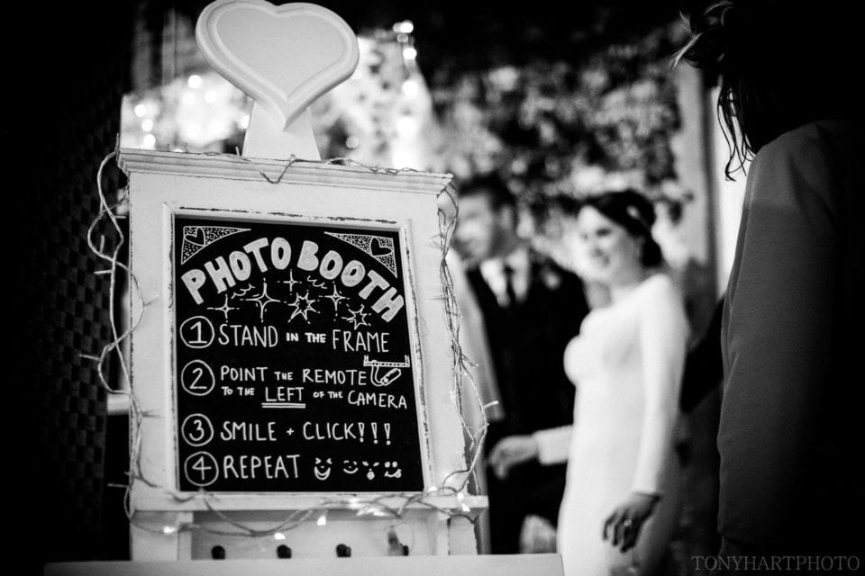 Northbrook Park Wedding Photography - Bride and Groom in the Photobooth