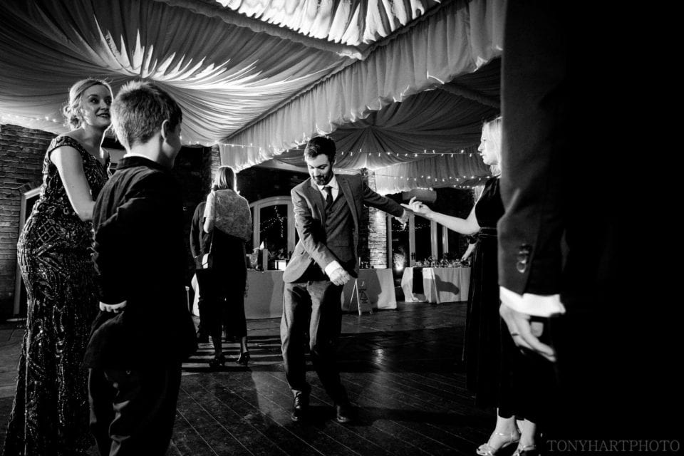 Flossing on the dance floor in The Orangery at Northbrook Park