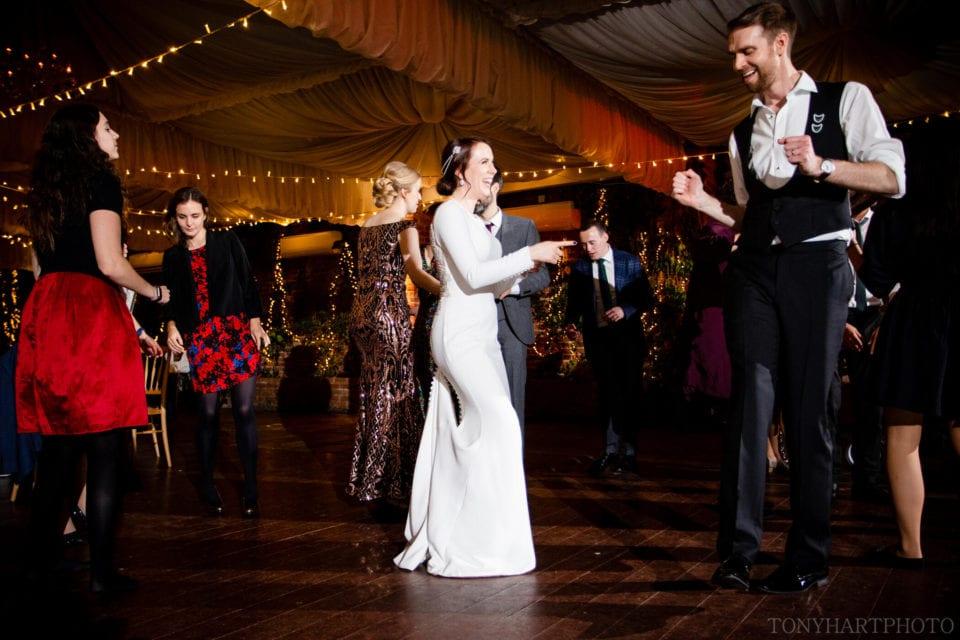 Northbrook Park Wedding Photography - Bride and Groom on the dancefloor