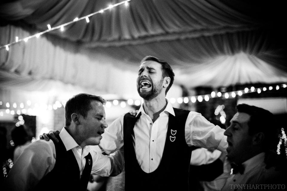 Northbrook Park Wedding Photography - James going all out on the dancefloor