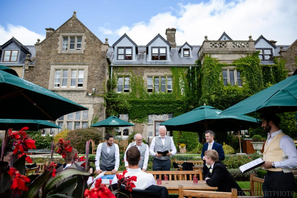 Groom's breakfast at South Lodge Hotel