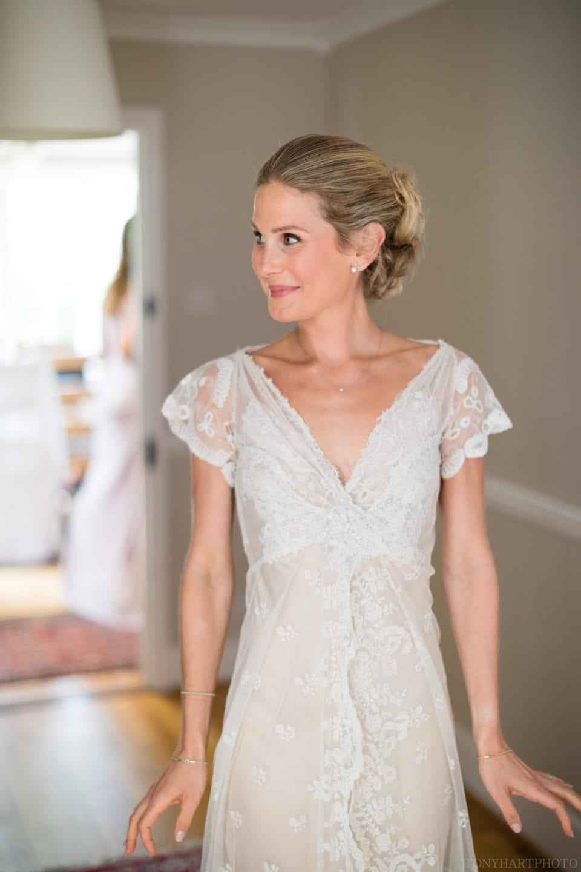Jane in her beautiful Jane Bourvis dress