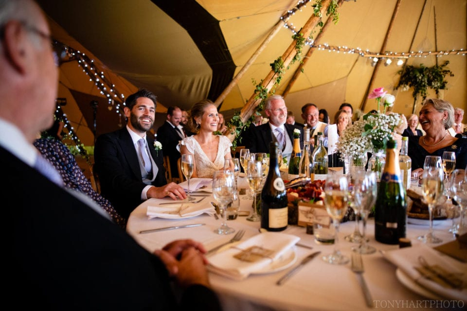 Speeches at the tipi wedding