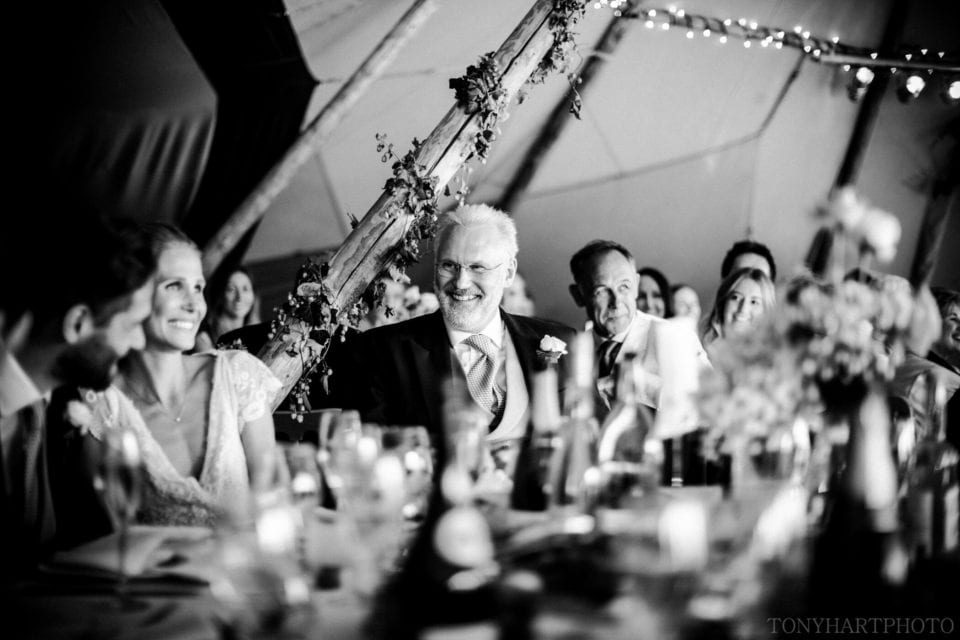 Tipi wedding black and white