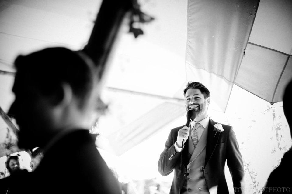 Tipi wedding - Groom's speech