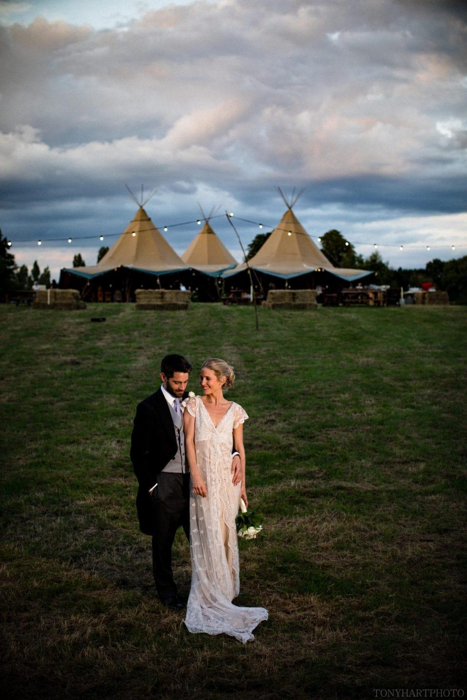 Grace & Jumbo at their tipi wedding