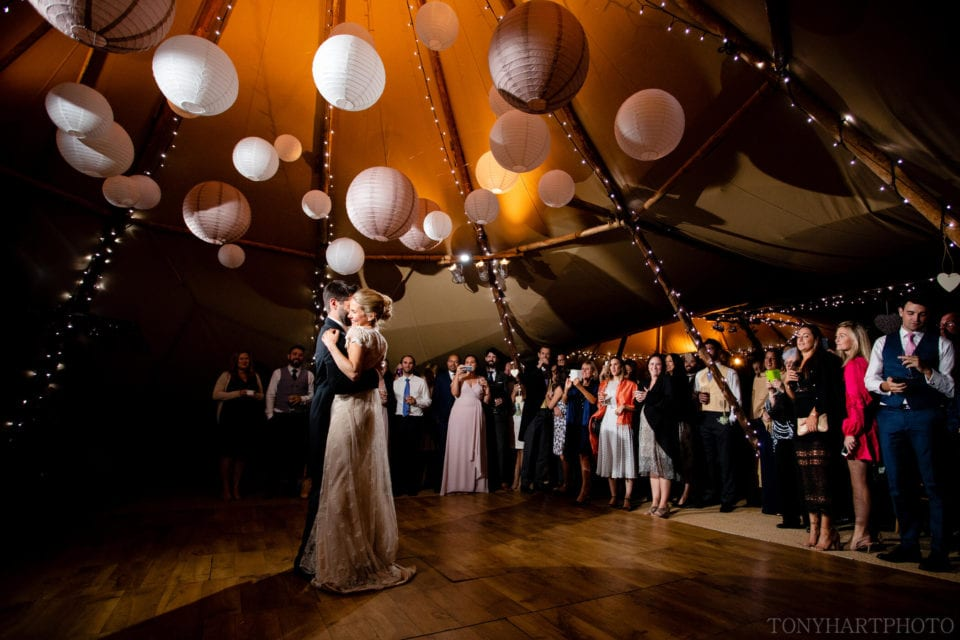 First dance at the tipi wedding