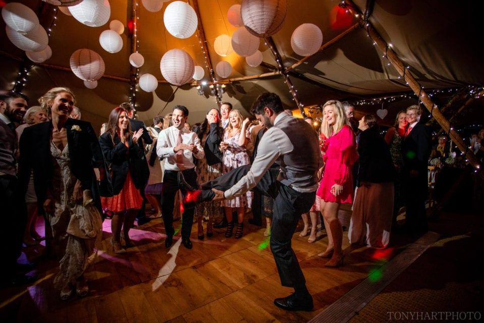 Tipi wedding leg dance