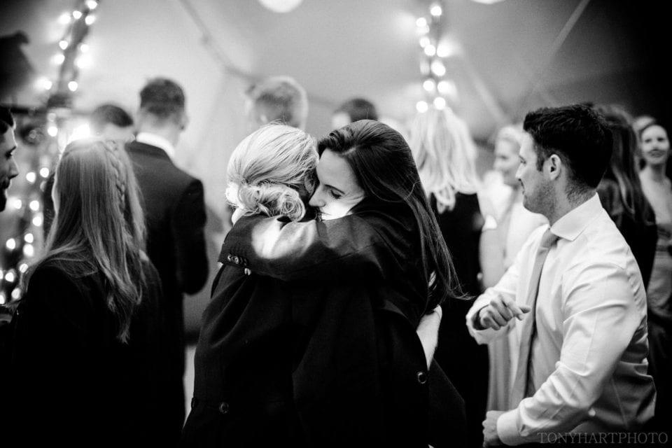 Tipi wedding - hugs on the dance floor