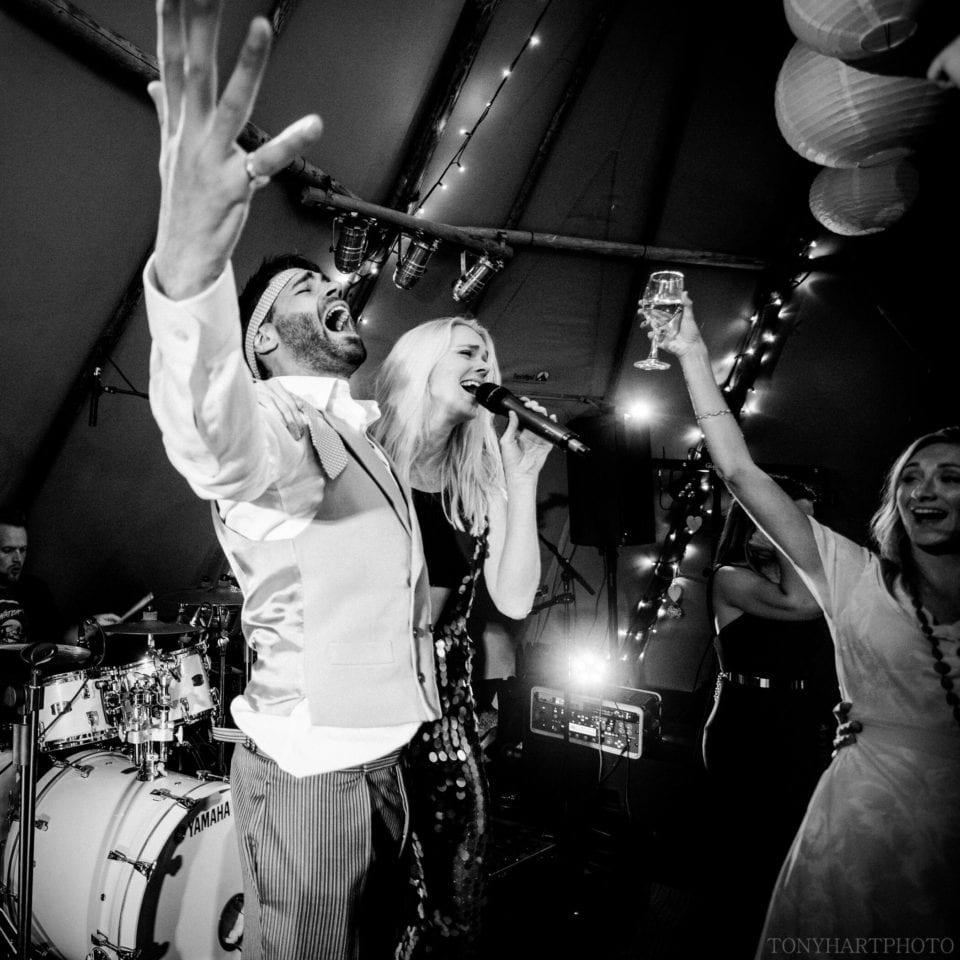 Groom Jumbo goes large at the Tipi wedding!