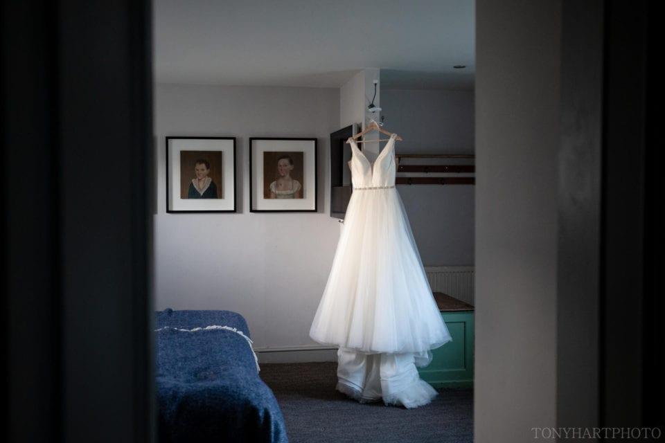 Rosie's beautiful Sophia Tolli wedding dress