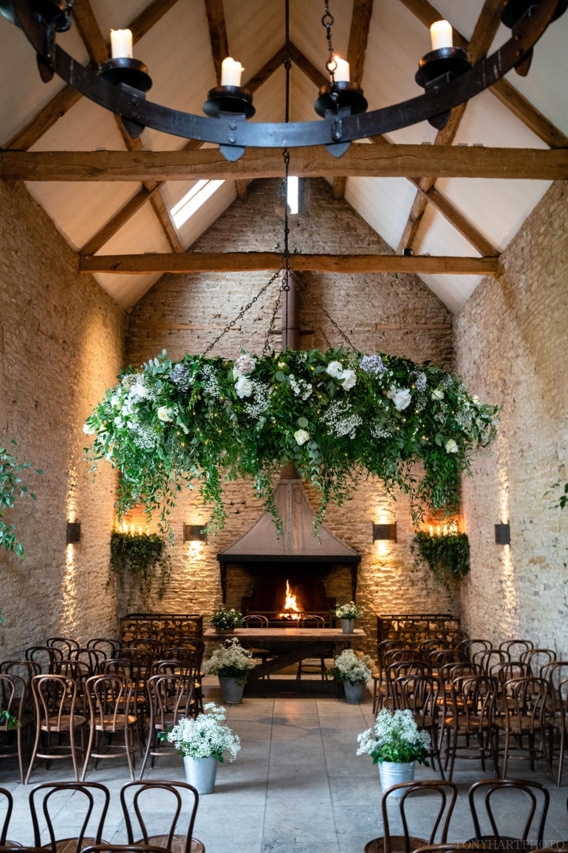 Stone Barn wedding venue interior